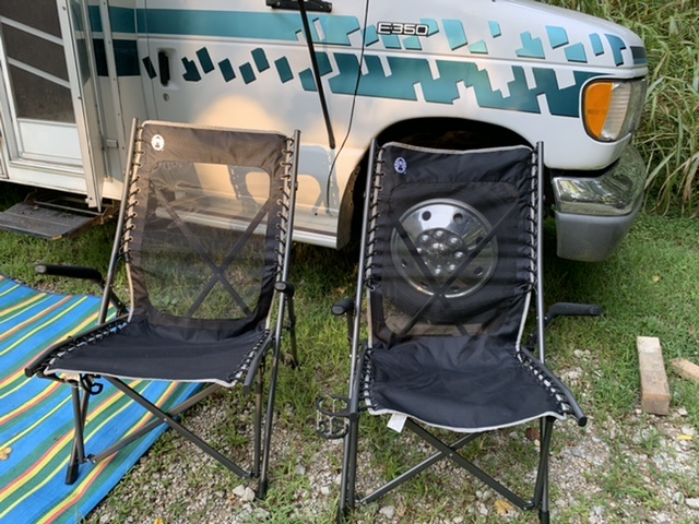 Comfortable camping chairs we bought