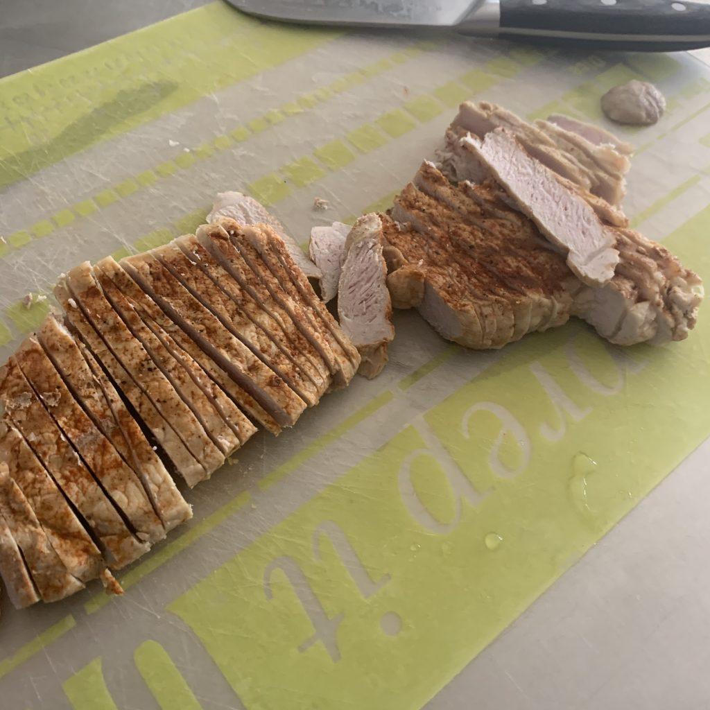 chopped pork chop for stir fry meal
